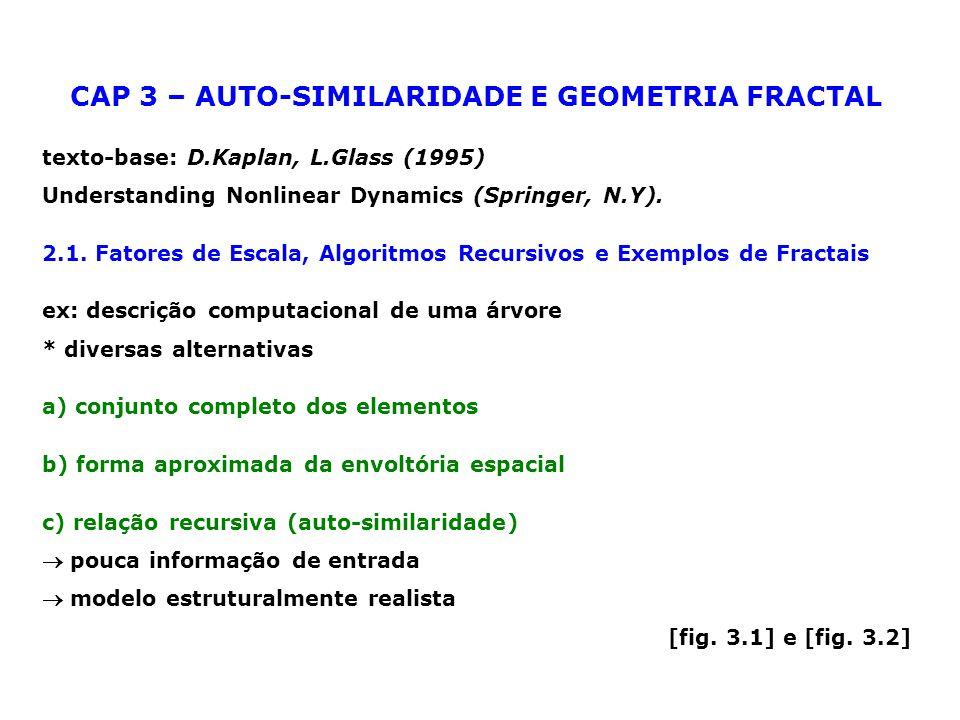 CAP 3 – AUTO-SIMILARIDADE E GEOMETRIA FRACTAL