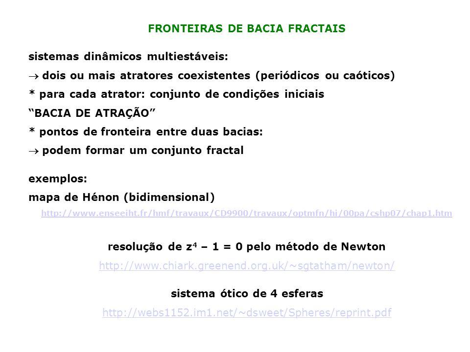 FRONTEIRAS DE BACIA FRACTAIS