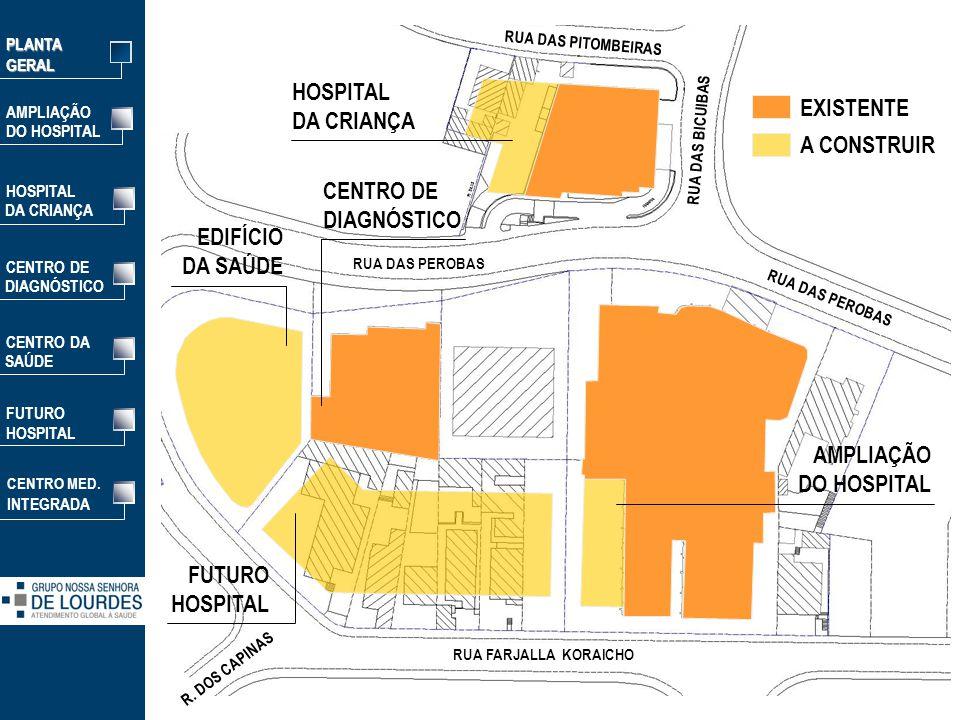HOSPITAL DA CRIANÇA EXISTENTE A CONSTRUIR CENTRO DE DIAGNÓSTICO