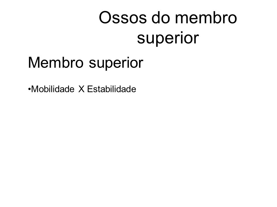 Ossos do membro superior