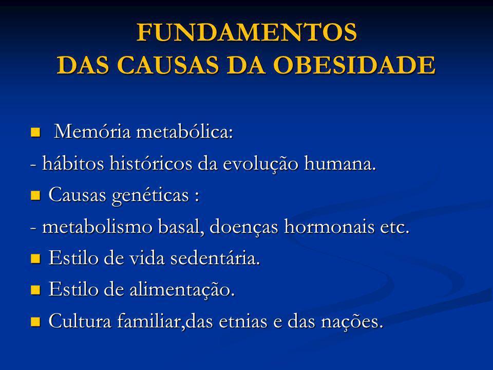 FUNDAMENTOS DAS CAUSAS DA OBESIDADE