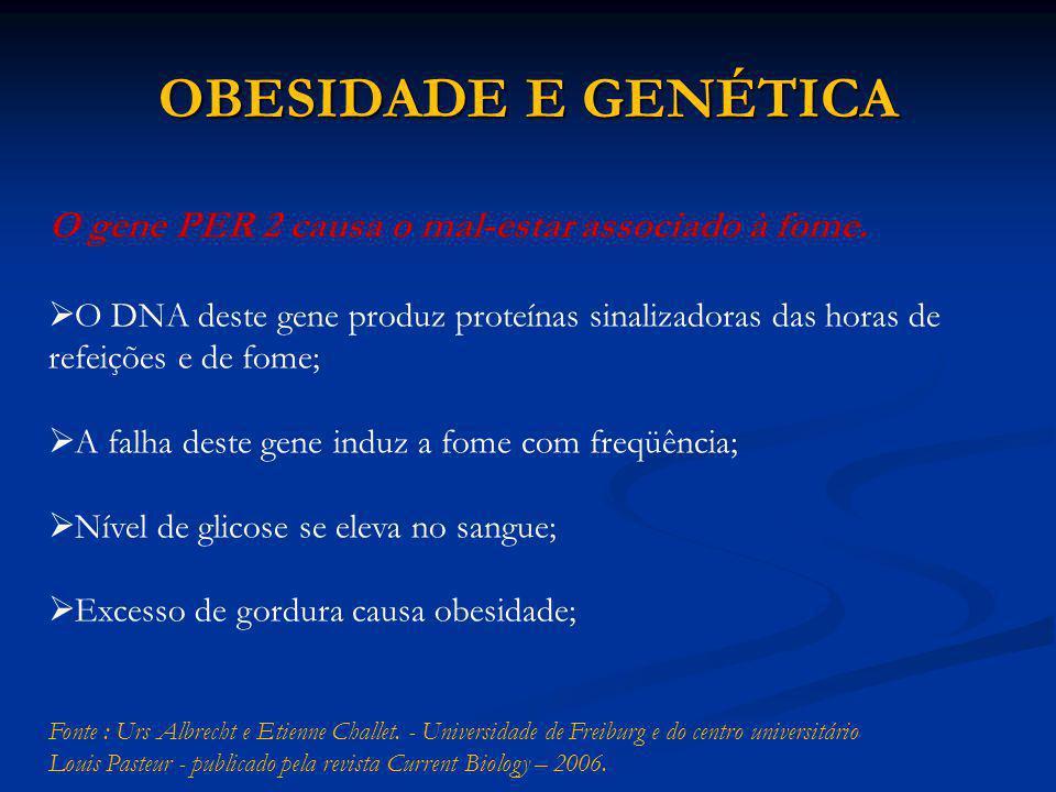 OBESIDADE E GENÉTICA O gene PER 2 causa o mal-estar associado à fome.
