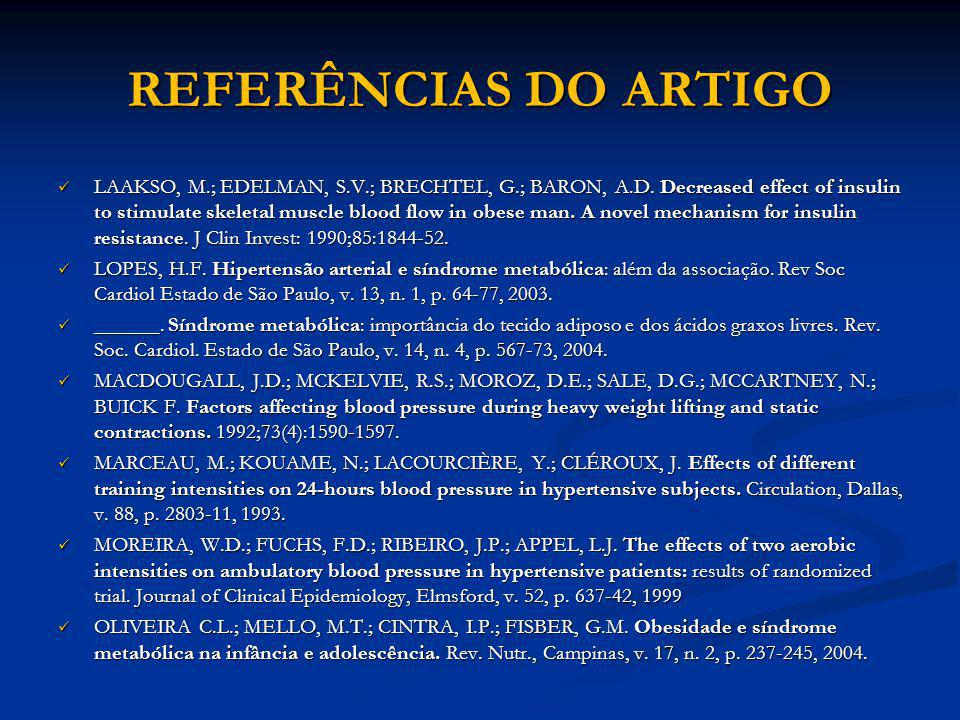 REFERÊNCIAS DO ARTIGO