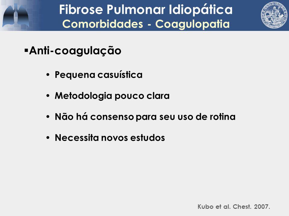 Fibrose Pulmonar Idiopática Comorbidades - Coagulopatia