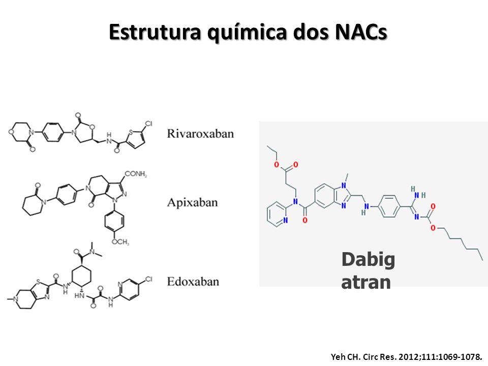 Estrutura química dos NACs