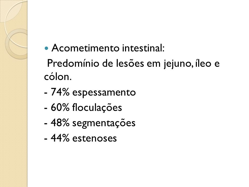 Acometimento intestinal: