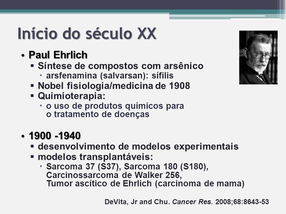 Início do século XX Paul Ehrlich 1900 -1940