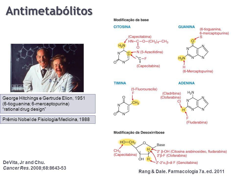 Antimetabólitos George Hitchings e Gertrude Elion, 1951