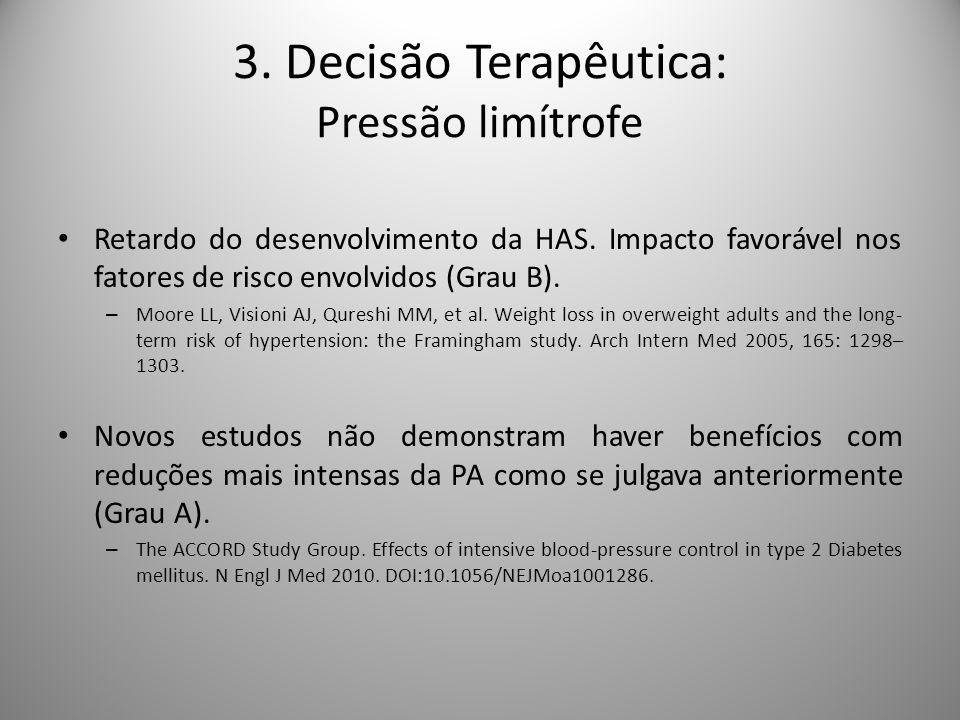 3. Decisão Terapêutica: Pressão limítrofe