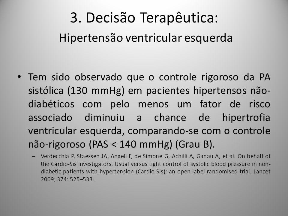 3. Decisão Terapêutica: Hipertensão ventricular esquerda