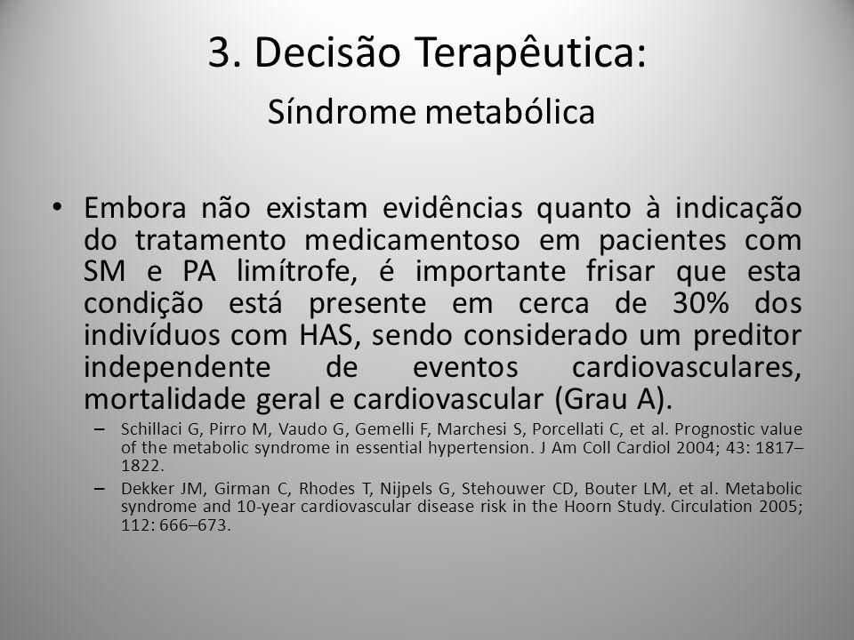 3. Decisão Terapêutica: Síndrome metabólica
