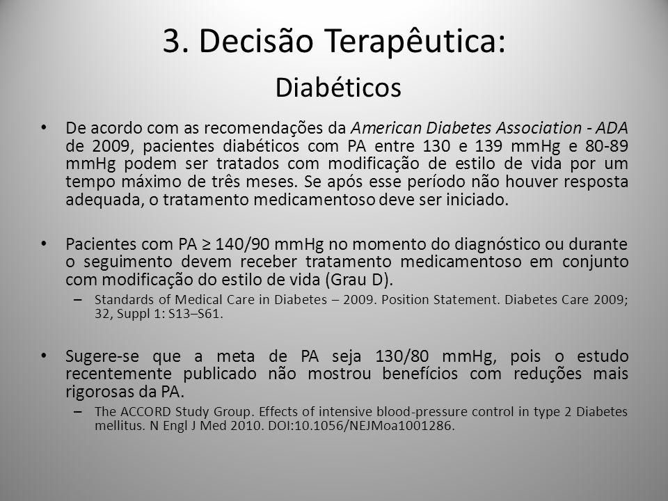 3. Decisão Terapêutica: Diabéticos