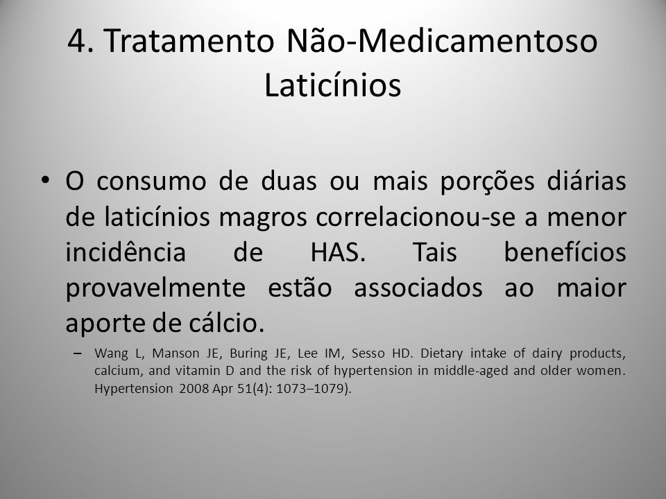4. Tratamento Não-Medicamentoso Laticínios