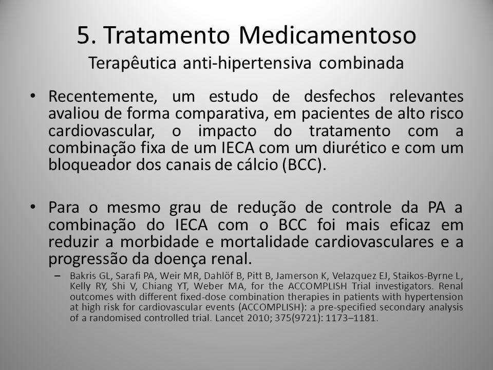 5. Tratamento Medicamentoso Terapêutica anti-hipertensiva combinada
