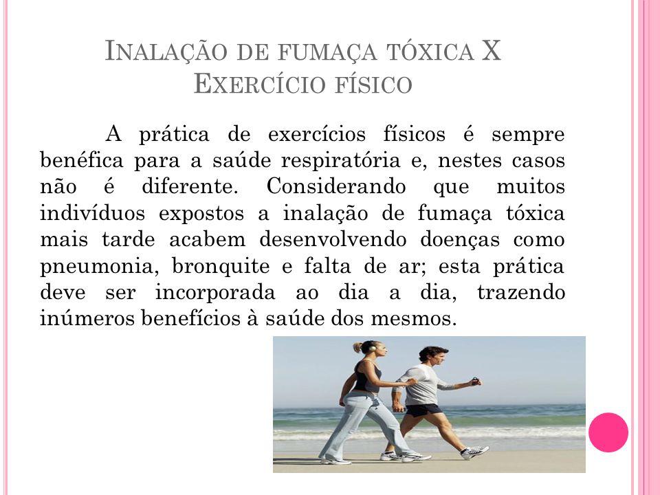 Inalação de fumaça tóxica X Exercício físico