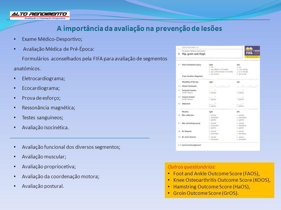 A importância da avaliação na prevenção de lesões