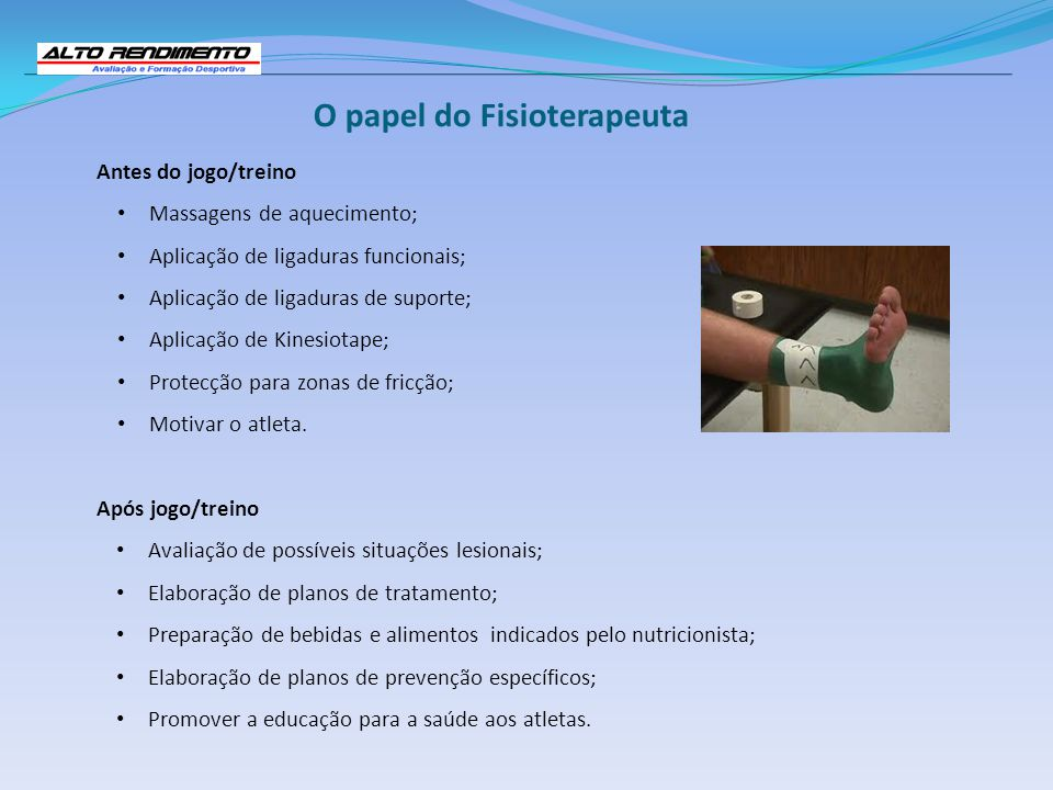 O papel do Fisioterapeuta