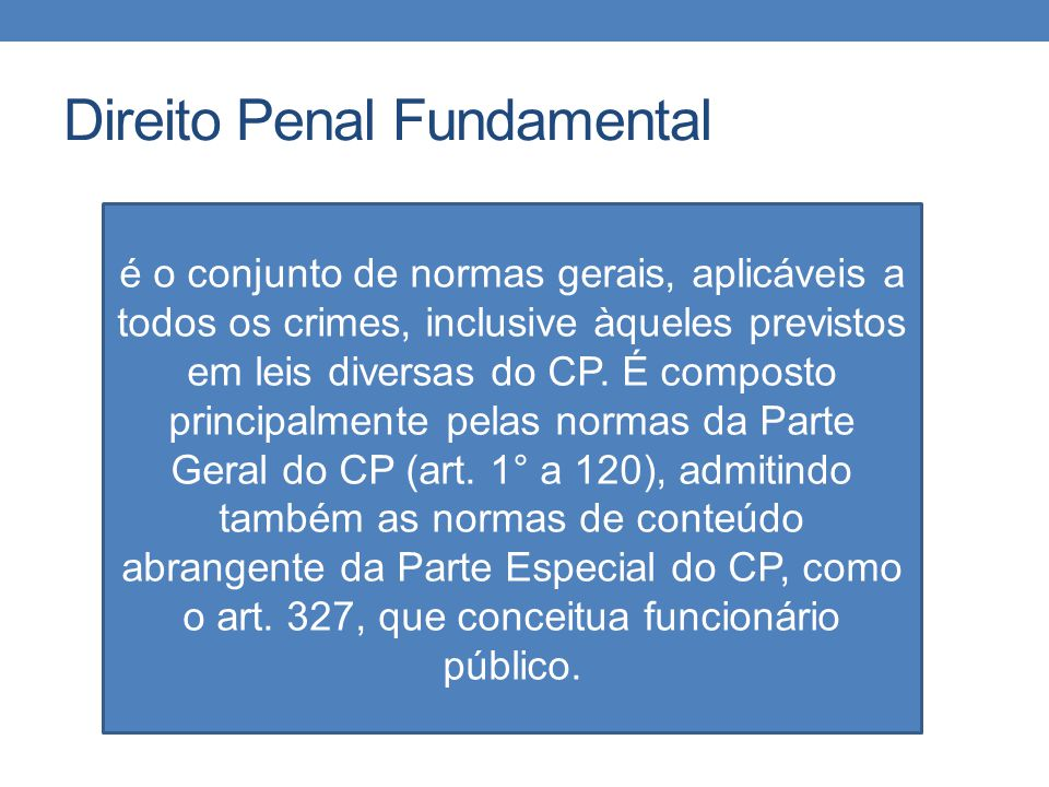 Direito Penal Fundamental