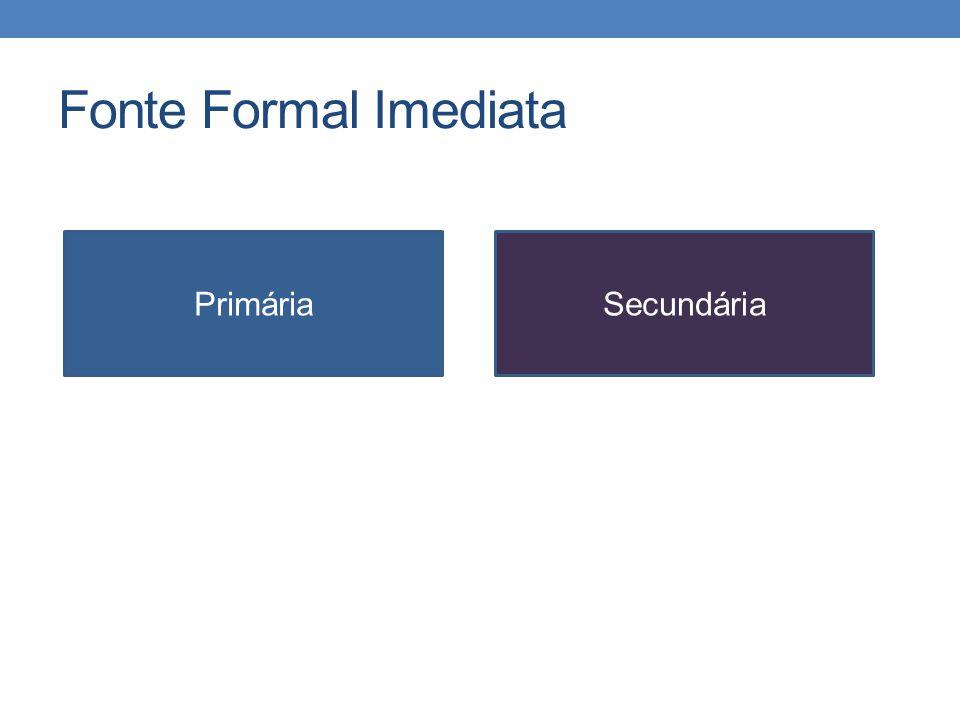 Fonte Formal Imediata Primária Secundária