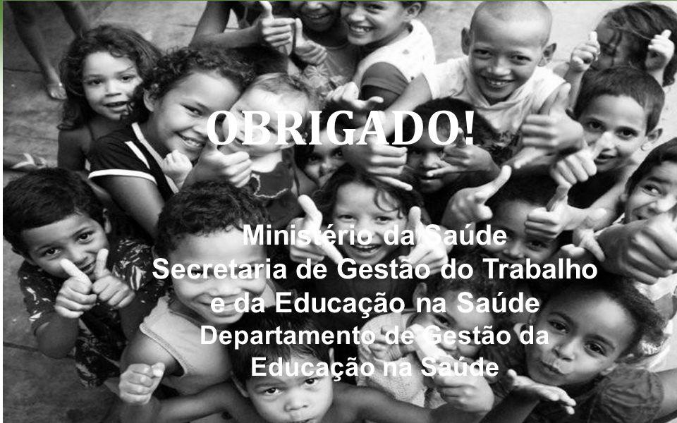 OBRIGADO! Ministério da Saúde
