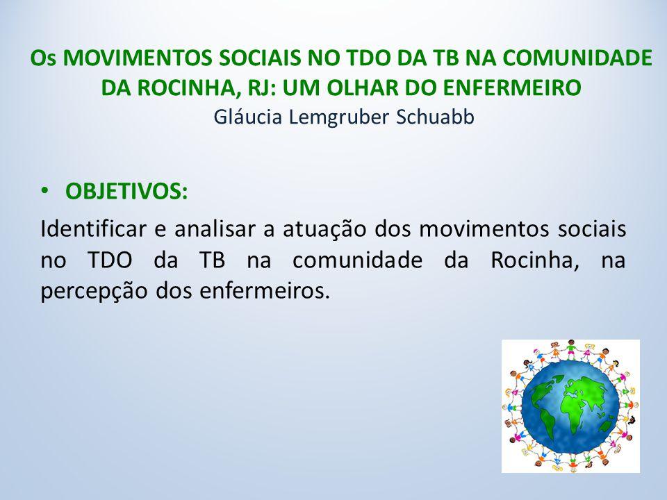 Os MOVIMENTOS SOCIAIS NO TDO DA TB NA COMUNIDADE DA ROCINHA, RJ: UM OLHAR DO ENFERMEIRO Gláucia Lemgruber Schuabb