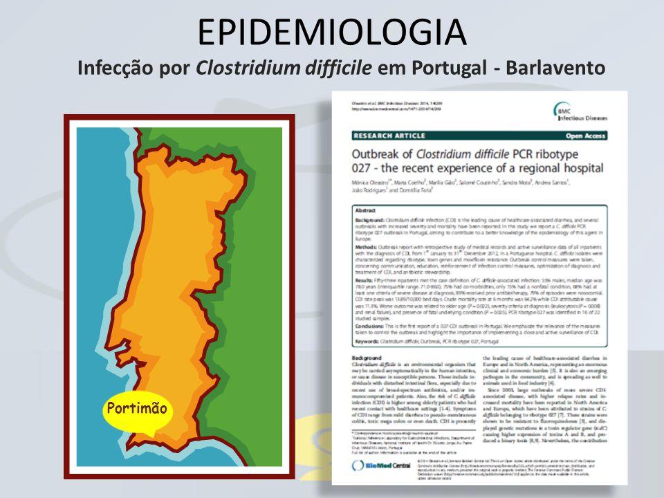 EPIDEMIOLOGIA Infecção por Clostridium difficile em Portugal - Barlavento Portimão