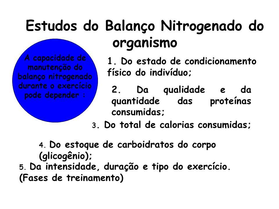 Estudos do Balanço Nitrogenado do organismo