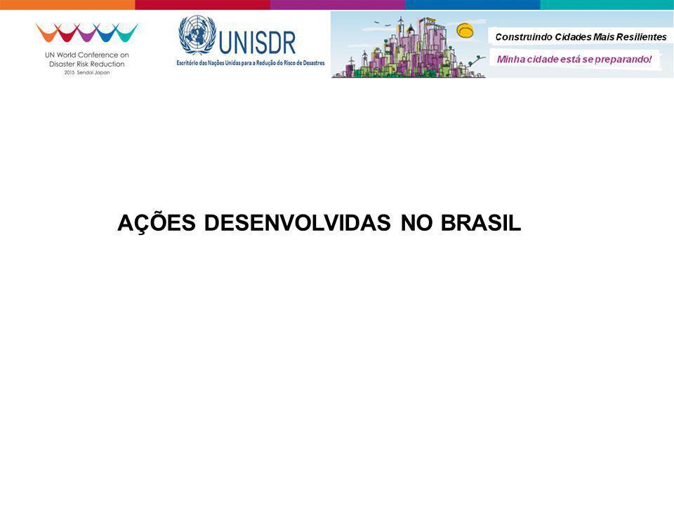 AÇÕES DESENVOLVIDAS NO BRASIL