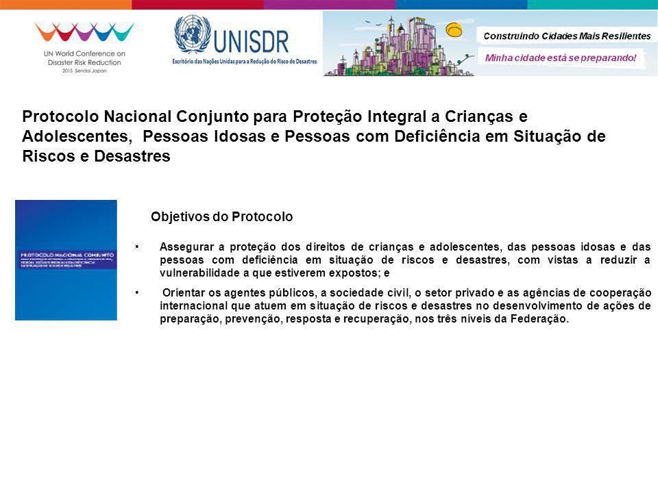 Protocolo Nacional Conjunto para Proteção Integral a Crianças e Adolescentes, Pessoas Idosas e Pessoas com Deficiência em Situação de Riscos e Desastres