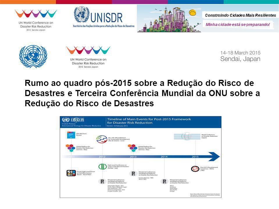 Rumo ao quadro pós-2015 sobre a Redução do Risco de Desastres e Terceira Conferência Mundial da ONU sobre a Redução do Risco de Desastres