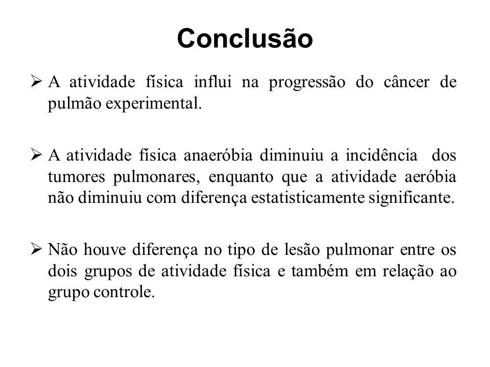 Conclusão A atividade física influi na progressão do câncer de pulmão experimental.