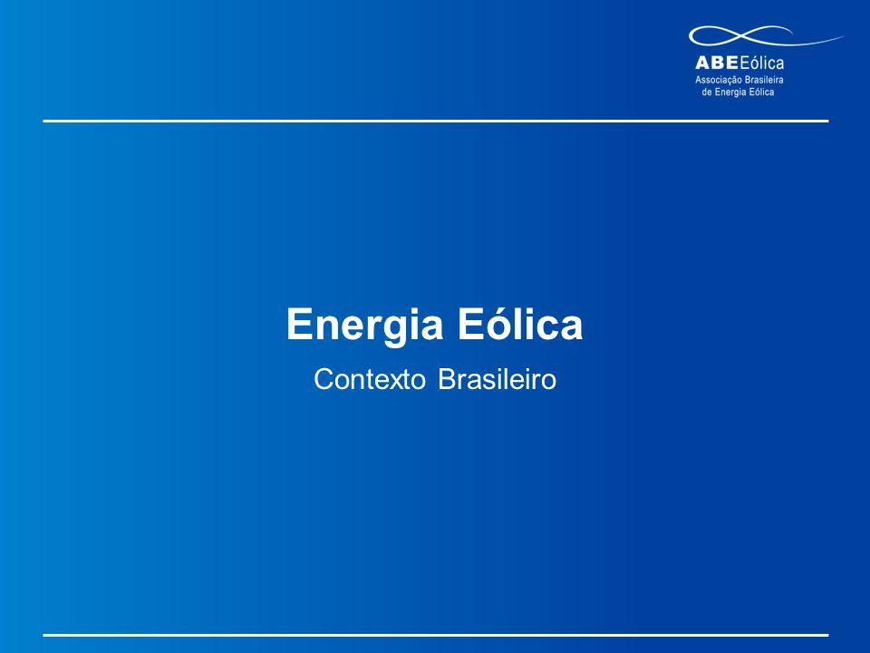 Energia Eólica Contexto Brasileiro