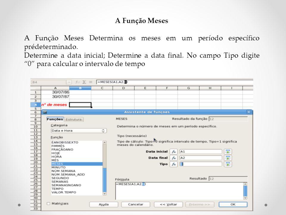 A Função Meses A Função Meses Determina os meses em um período específico prédeterminado.