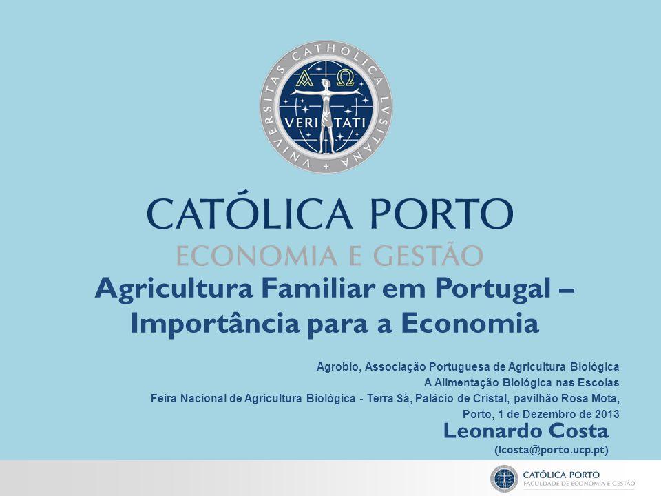 Agricultura Familiar em Portugal – Importância para a Economia