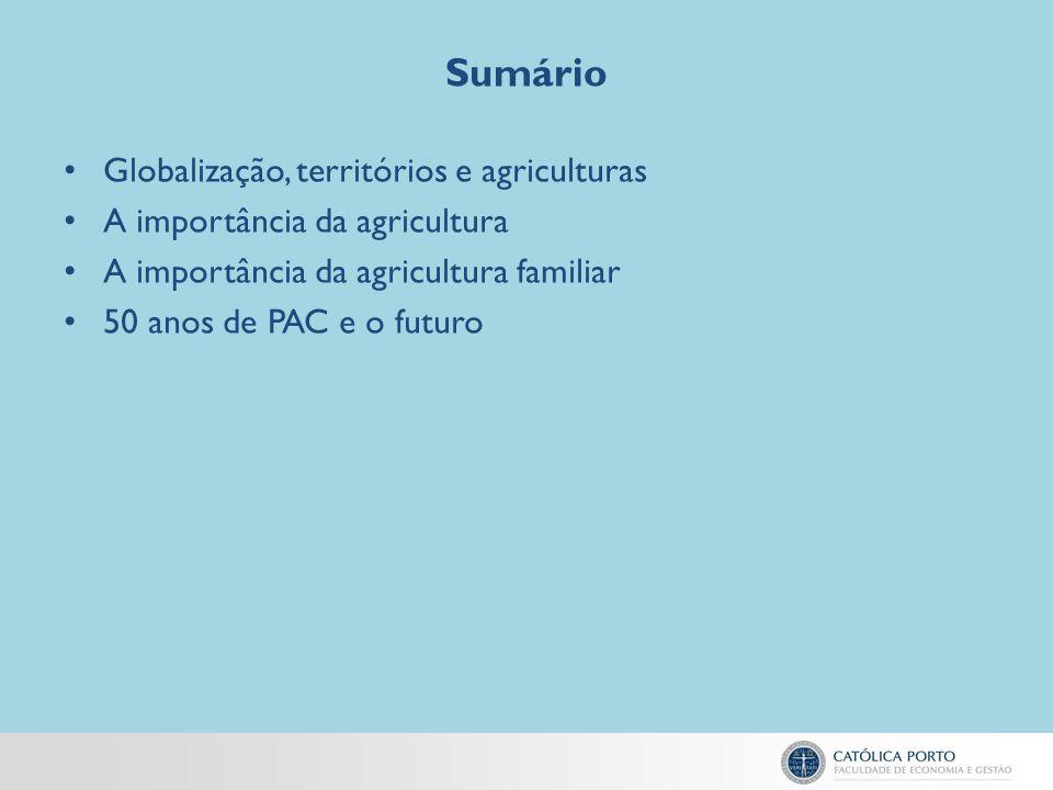 Sumário Globalização, territórios e agriculturas