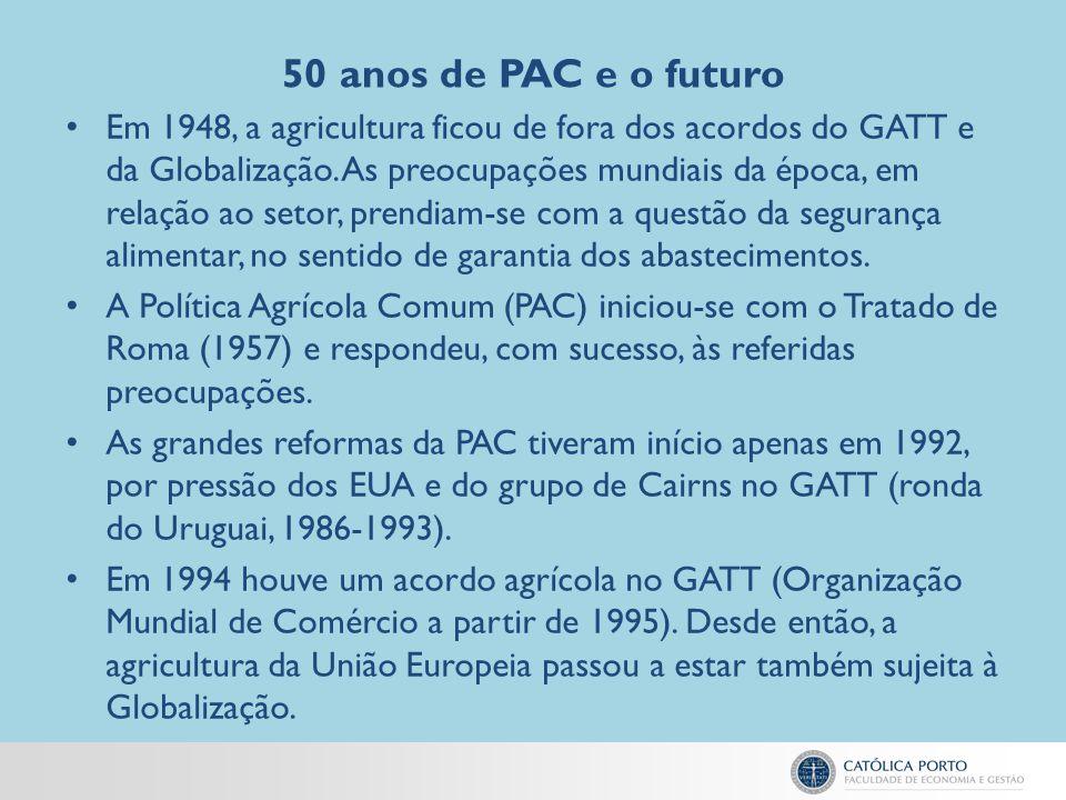 50 anos de PAC e o futuro