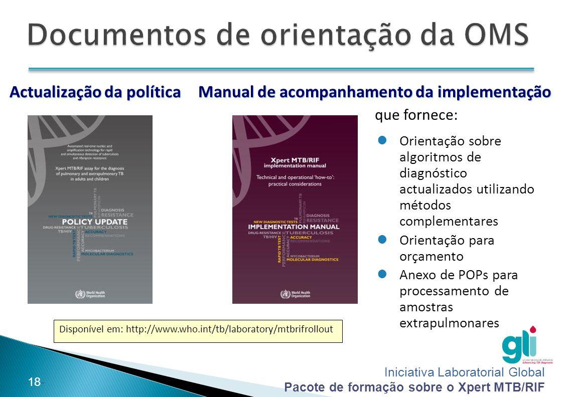 Documentos de orientação da OMS
