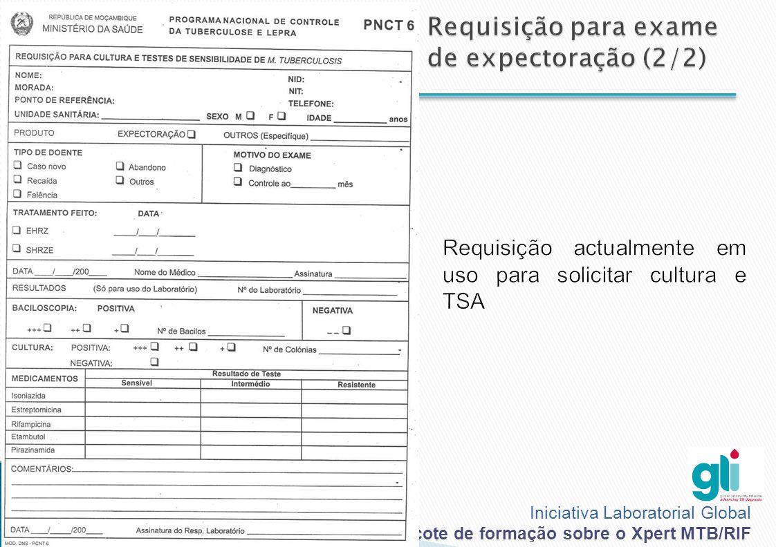 Requisição para exame de expectoração (2/2)