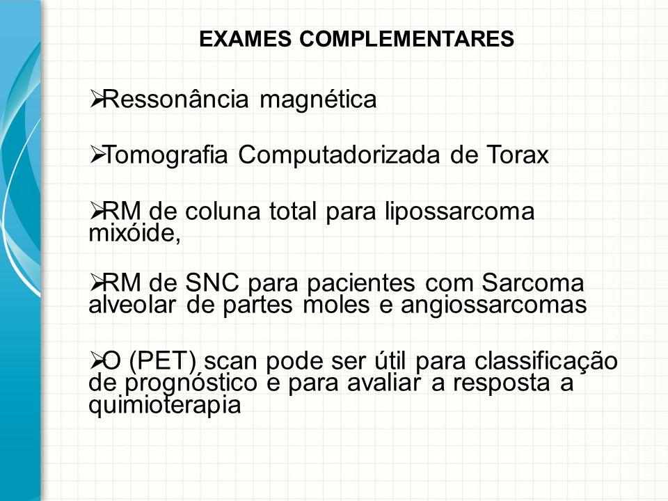 Ressonância magnética Tomografia Computadorizada de Torax
