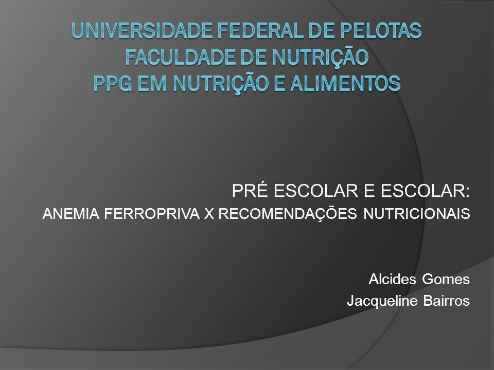 UNIVERSIDADE FEDERAL DE PELOTAS FACULDADE DE NUTRIÇÃO PPG EM NUTRIÇÃO E ALIMENTOS