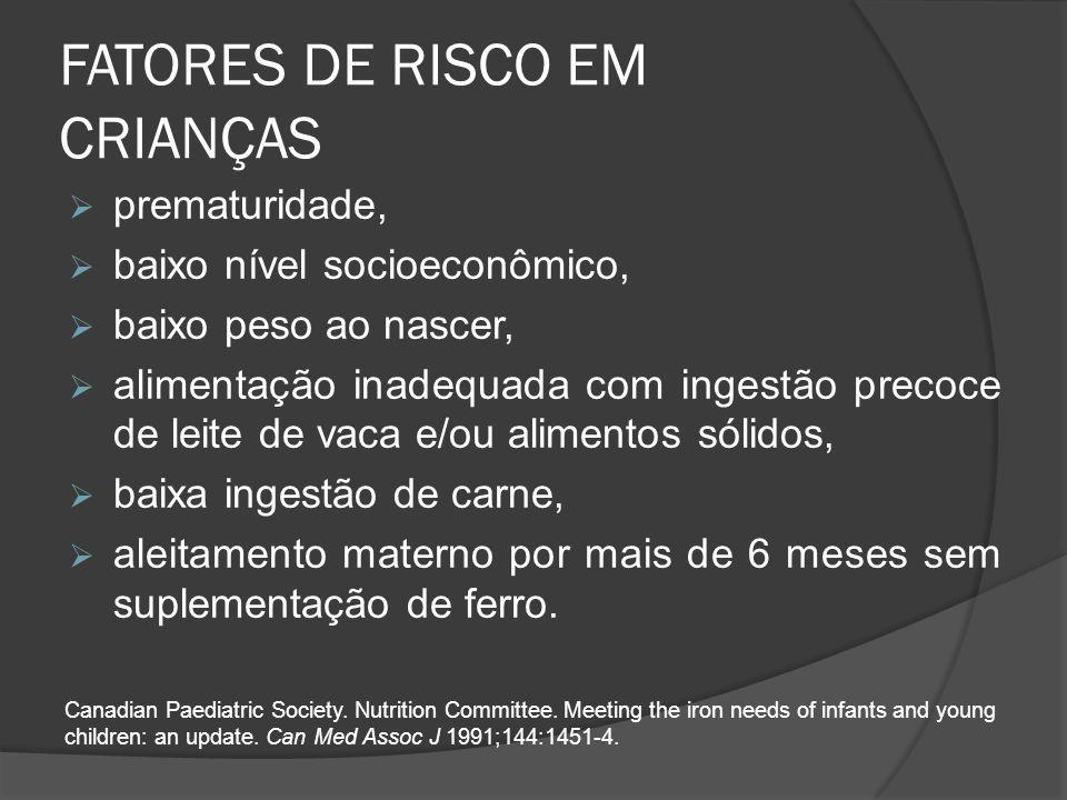 FATORES DE RISCO EM CRIANÇAS
