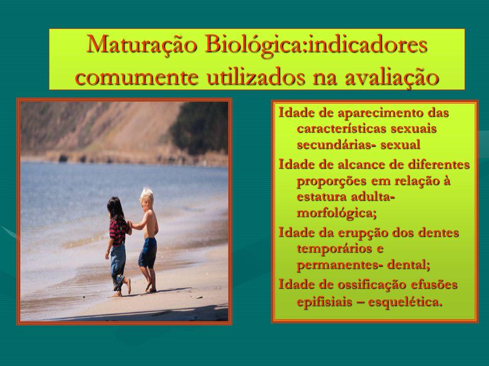 Maturação Biológica:indicadores comumente utilizados na avaliação