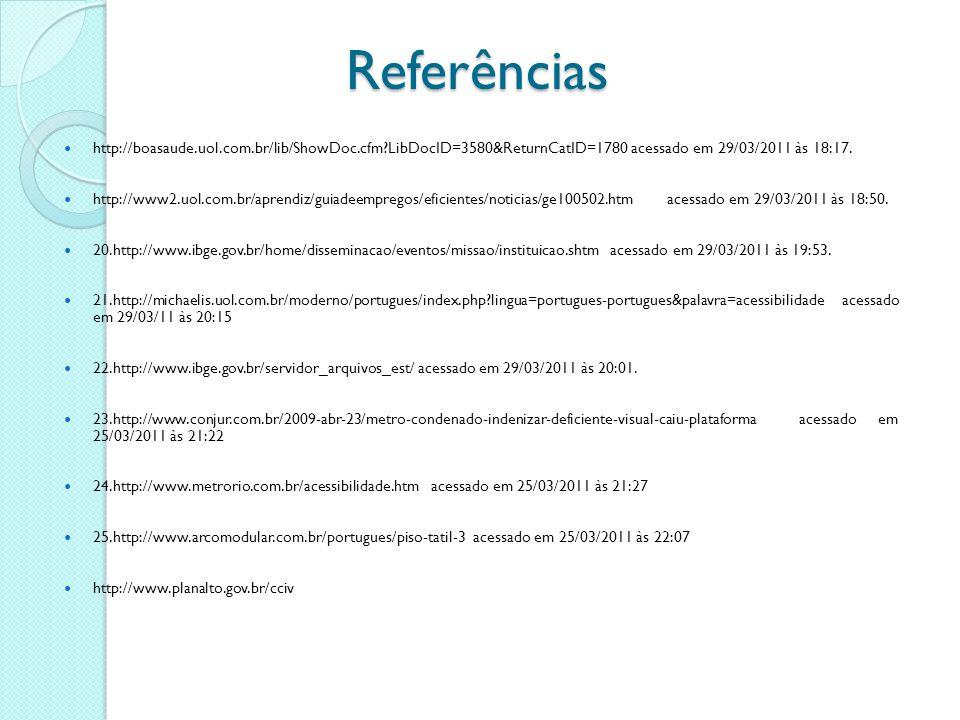 Referências http://boasaude.uol.com.br/lib/ShowDoc.cfm LibDocID=3580&ReturnCatID=1780 acessado em 29/03/2011 às 18:17.