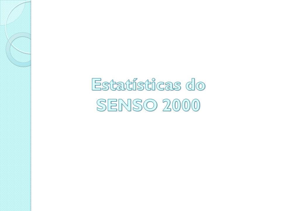 Estatísticas do SENSO 2000