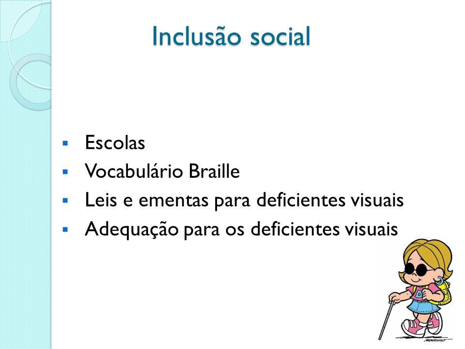 Inclusão social Escolas Vocabulário Braille