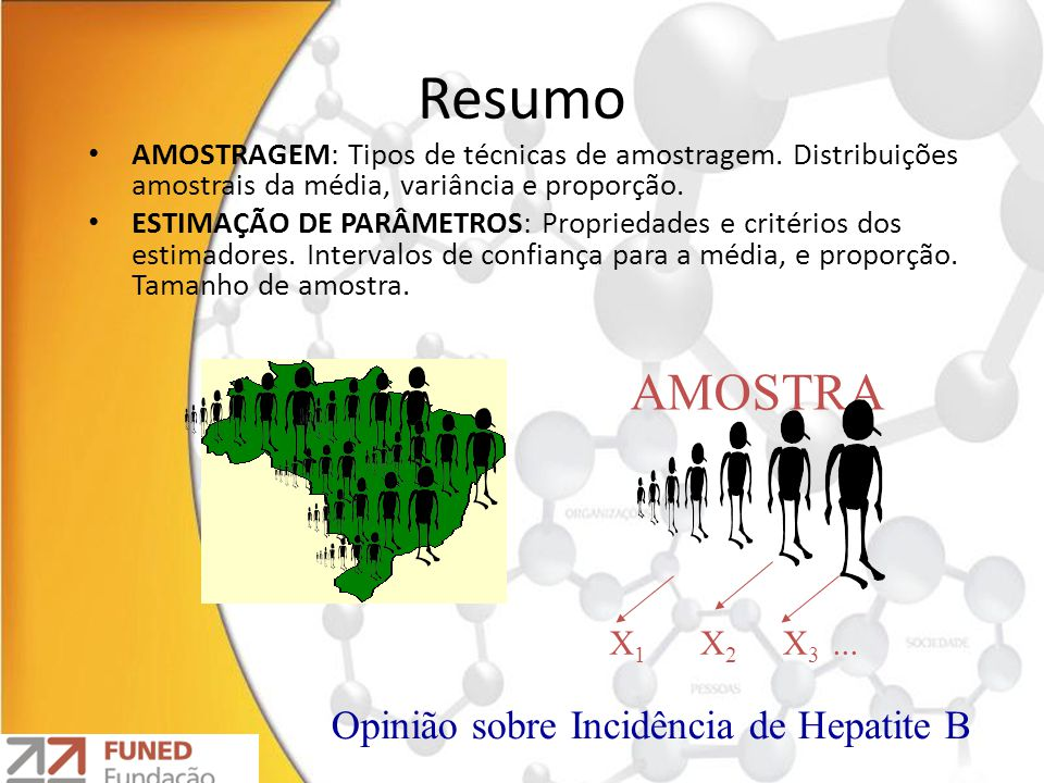 Resumo AMOSTRA Opinião sobre Incidência de Hepatite B X1 X2 X3 ...