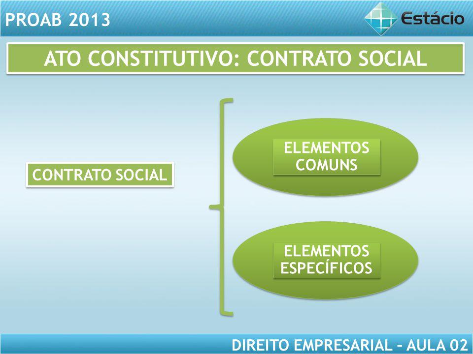 ATO CONSTITUTIVO: CONTRATO SOCIAL