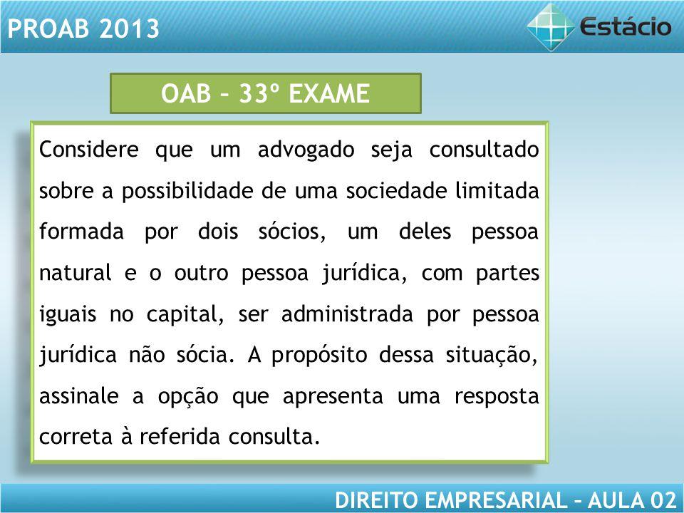 OAB – 33º EXAME