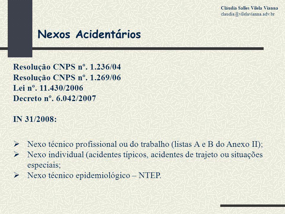 Nexos Acidentários Resolução CNPS nº. 1.236/04