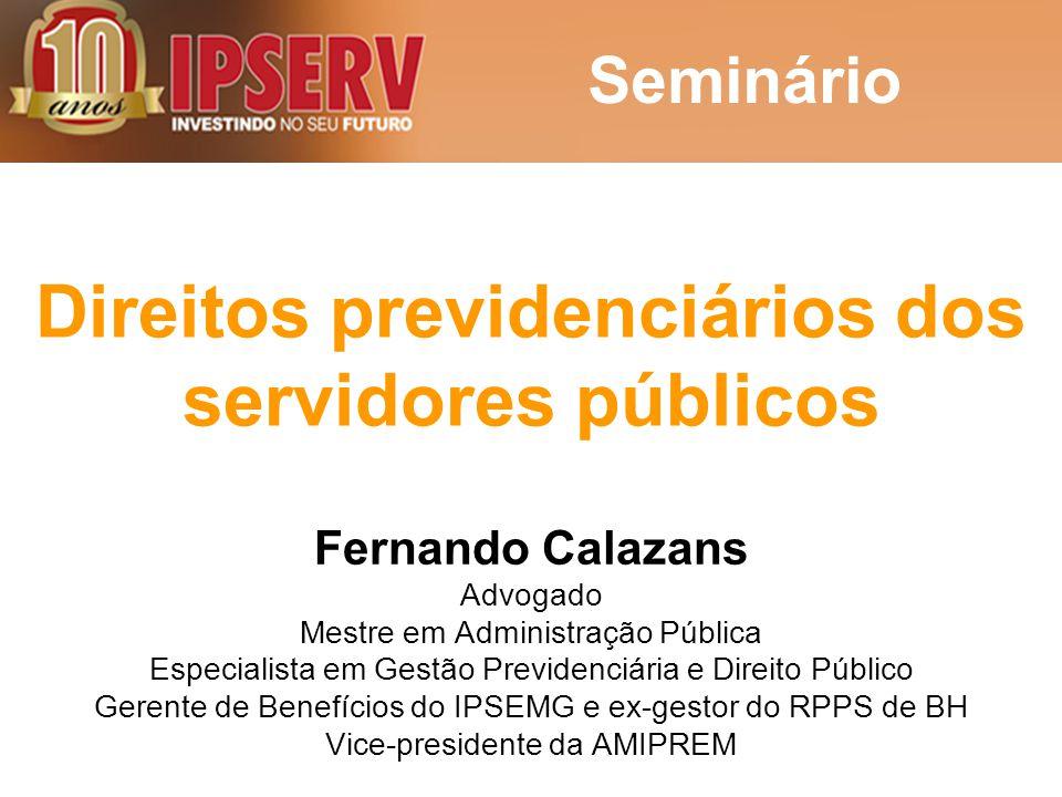 Direitos previdenciários dos servidores públicos